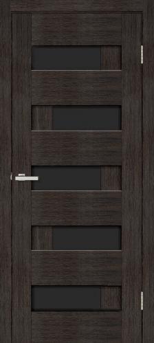 Дверне полотно Доміно-R чорне скло 800 мм дуб венге  2272 грн