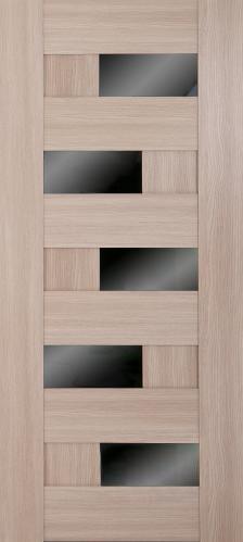 Дверне полотно Доміно чорне скло 800 мм дуб латте  3120 грн