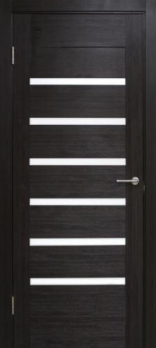 Дверне полотно Лагуна з білим склом 800 мм венге  2752 грн