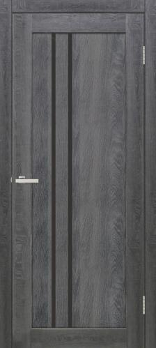 Дверне полотно  Lego 2 чорне скло 800 мм дуб темний 2128 грн